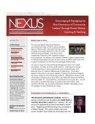 NEXUS is hosting a Workshop over Breakfast with ... - nexus leaders