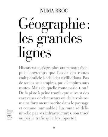 Géographie : les grandes lignes