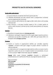 progetto salto ostacoli seniores - Cavalli e Gare, portale di ...