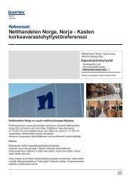 Netthandelen Norge, Norja - Kasten