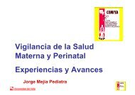 Vigilancia de la Salud Materna y Perinatal Experiencias y Avances