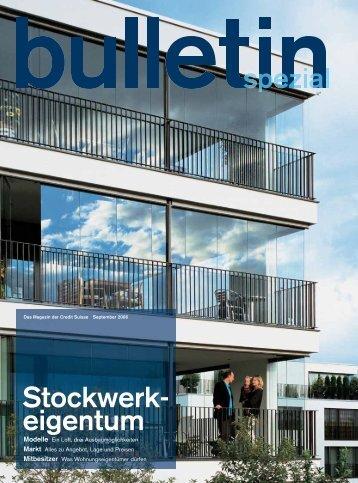 Stockwerk- eigentum - Credit Suisse