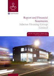 Report and Financial Statements Adactus Housing Group Limited