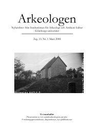 Arkeologen 1/08 - Institutionen för historiska studier - Göteborgs ...