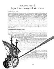 PHILIPPE HERVÉ Rayon de mort ou rayon de vie : le laser