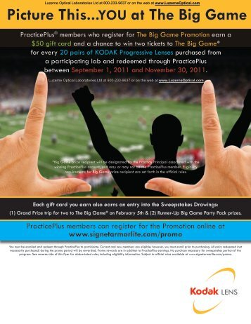 Picture This... YOU at The Big Game - Luzerne Optical Laboratories