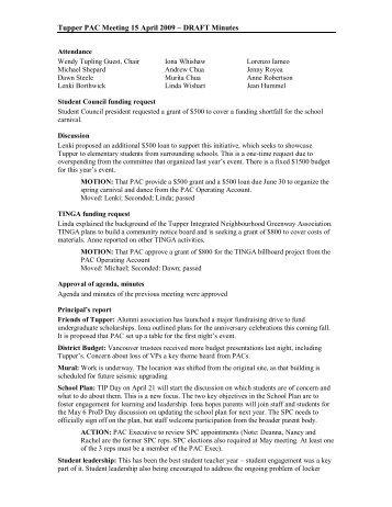 Tupper Pac Minutes Jan Pdf Sct Handouts