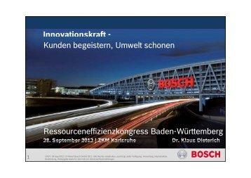 Effiziente Nutzung - Bosch Media Service