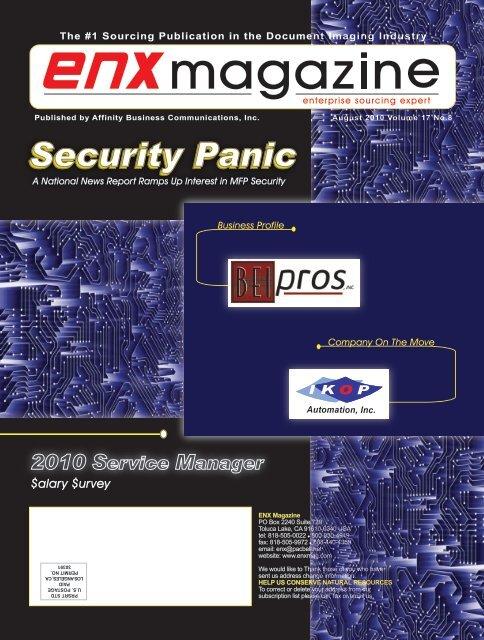 August 2010 Issue pdf - ENX Magazine