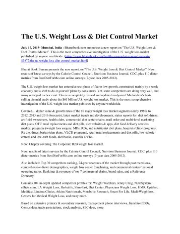 The U.S. Weight Loss & Diet Control Market