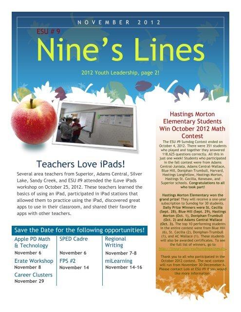 Teachers Love iPads! - Educational Service Unit #9