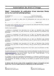 Autorisation de droit à l'image - Wiki-Brest