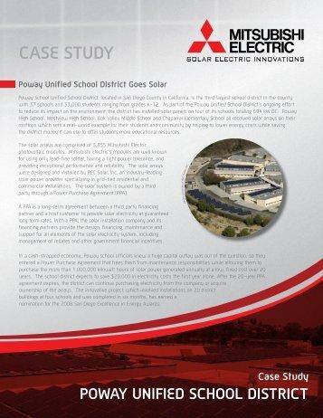 CASE STUDY POWAY UNIFIED SCHOOL ... - Mitsubishi Electric