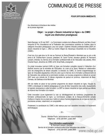Dessin industriel en ligne - Commission scolaire de la Beauce ...