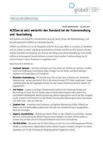 Download 2013-07-05 PM ACDSee 16 Deutsch_final - Globell BV