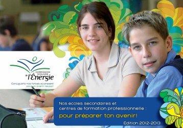 pour préparer ton avenir! - Commission scolaire de l'Énergie