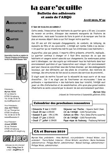 n° 44 - Association des habitants du quartier gare - Free