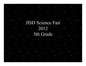 5th Grade Science Fair PowerPoint - Joshua Independent School ...