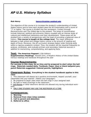 ap world syllabus