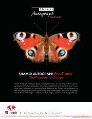 SHAMIR AUTOGRAPH - Luzerne Optical Laboratories