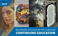 Download Fall 2013 Catalog - Delaware College of Art and Design