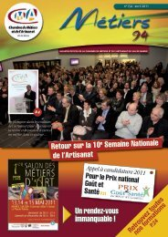 Le Bulletin Officiel d'avril 2011 - Chambre de Métiers et de l'Artisanat ...