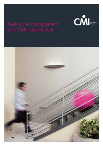 Step up to management with CMI qualifications - Chartered ...