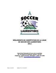 règlements de compétition de la ligue de soccer des ... - La Zone ASB