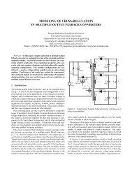 modeling of cross-regulation in multiple-output flyback converters
