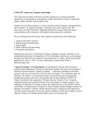 Download application - Center for the Study of Women in Society ...