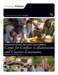 Boulder Center for Conflict, Collaboration and Creative Governance ...