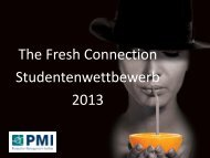 The Fresh Connection Studentenwettbewerb 2013 - PMI