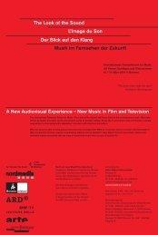 Programm 2010 - Fernsehforum für Musik