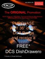 FREE* DCS DishDrawer® - Coast Wholesale Appliances