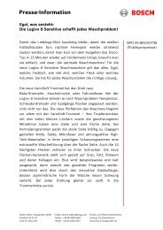 Presse-Information - Bosch