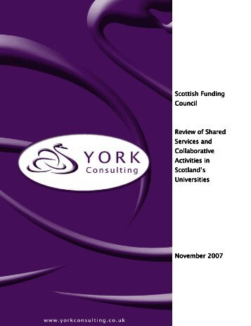 Scottish Funding Council Review of Shared ... - York Consulting