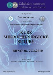 kurz mikrochirurgické sutury brno 26.-27.3.2010 - ECPA-CZ o.p.s.