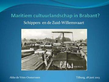 Schippers en de Zuid Willemsvaart (Presentatie ... - watererfgoed.nl