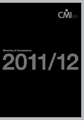 Directory of Companions - Chartered Management Institute