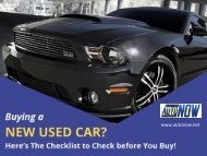 Buy Used Cars in Scranton PA - Checklists to Check!