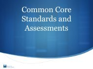 Common Core Standards and Assessments (PDF)