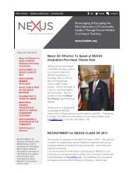 Mayor AC Wh Graduation RECRUITMEN Mayor AC ... - nexus leaders