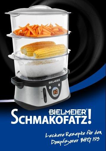"Leckere Rezepte fu ""r den Dampfgarer BHG 193 - Bielmeier"