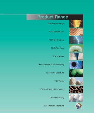 Product Range - TOX PRESSOTECHNIK GmbH & Co.KG