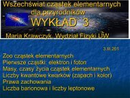 Zoo cząstek elementarnych - Warsaw High Energy Physics Group