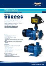 Pressure Systems - Savewater.com.au