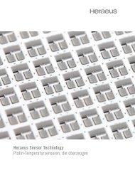 Heraeus Sensor Technology Platin-Temperatursensoren, die ...
