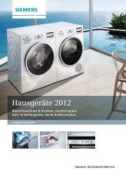 Hausgeräte 2012 - Siemens