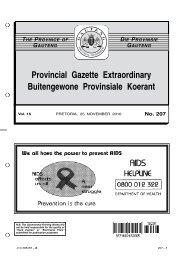 Provincial Gazette Extraordinary Buitengewone Provinsiale Koerant