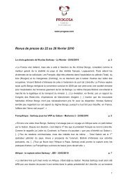 Revue de presse du 22 au 26 février 2010 - Bolloré